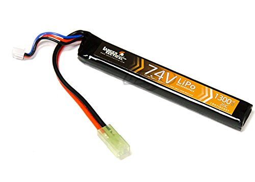 Lancer Tactical 7.4v 1300mAh 20c LiPO Stick Battery – 3-Cell High-Output Lithium Polymer Battery for Airsoft Guns (Lipo Style Battery)