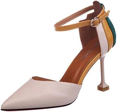 006875809c Damen Pumps Stilettos Lack Schuhe High Heels Elegant cinnamou Mode  Patchwork Knöchelriemen Schuhe
