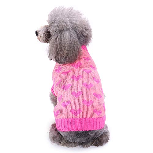 Dog Sweater, Laimeng_World Pet Dog Cat Winter Warm Footprint Sweater Pet Winter Warm Coat Dog Costume for Winter -