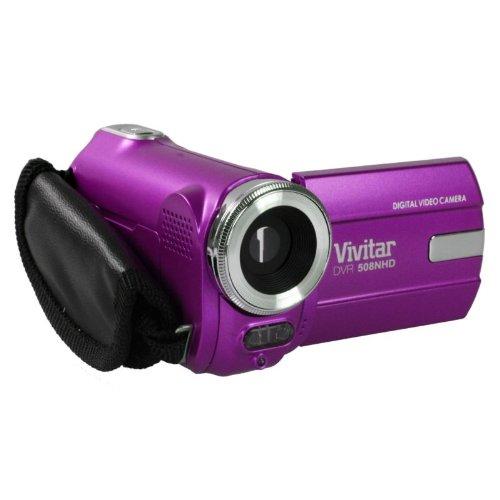 Vivitar DVR508NHD 8.1 MP HD Digital Camcorder – Purple (4X Zoom 1.8″ Screen)
