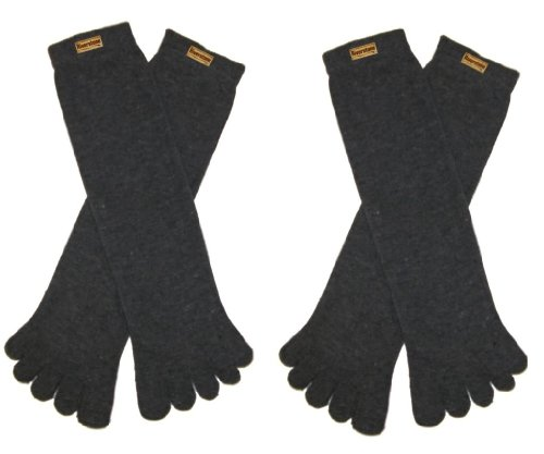 4 Black Pairs, 2 Navy Pairs RSG Black /& Navy Mens /& Womens Toe Socks6-Pack
