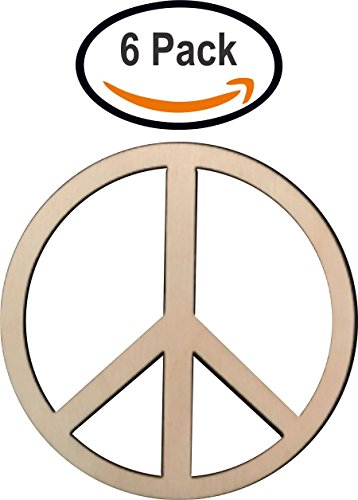 Wooden Peace Sign (Wooden Peace Sign is 3 inches USA made, Baltic Birch unfinished wood)