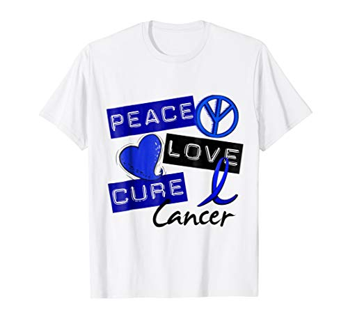 Anal Cancer T-Shirt Peace Love Cure