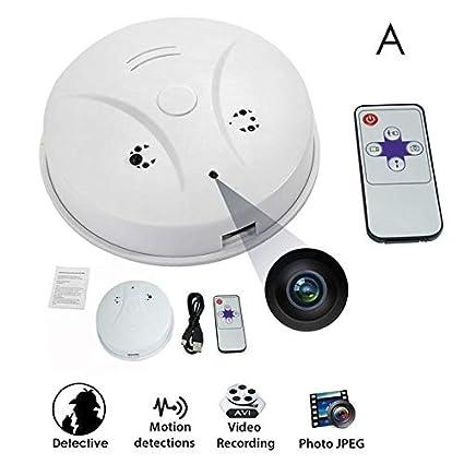 Lincong - Detector de Humo Mini Spy Camera Spy Camera Hidden vigilancia cámara HD 1080P Seguridad