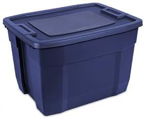 33-Gallon TUFF1 Storage Container (Deep Blue) (28.125H x 21.375W x 18.75D)