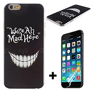 Mini - Crazy Teeth Pattern Hard with Screen Protector Cover for iPhone 6