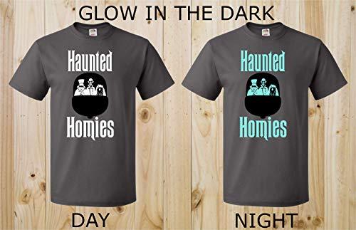 Haunted Homies Hitchhiking Ghosts Doom Buggy GLOW in the DARK Haunted Mansion Ghosts Spooky Disney Halloween Unisex Mens Boys Womens Tee -