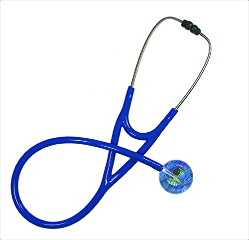Stethoscope - Clinical Grade - Professional - Single Adult - 074 Sea Turtle; Royal Blue Tubing By Ultrascope