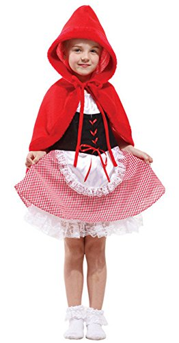 Halloween Costumes Little Red Riding Hood Set Performance Clothing Girls Child (Medium) (Little Red Riding Hood Cosplay)