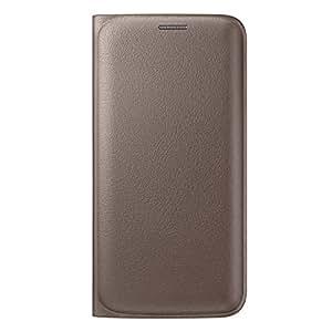 Generic Lujo con tarjetero de piel Funda para Samsung Galaxy S7Oro