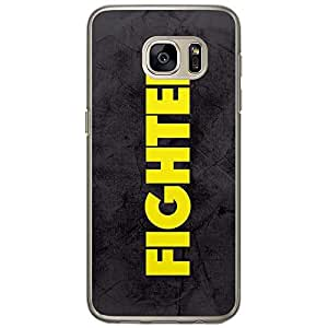 Loud Universe Samsung Galaxy S7 Title Fighter Printed Transparent Edge Case - Grey/Yellow