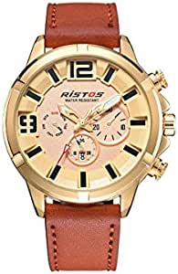 Ristos Casual Watch For Men Analog Leather - 9382