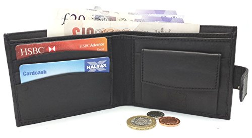 Designer-BUONO-PELLE-Real-Leather-Mens-Wallet-Credit-Carder-Holder-Bifold-Purse-With-Gift-Box