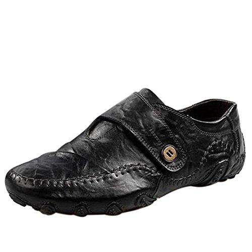 Informales o Ocasiones Hebilla Zapatos formales Negro Hombre Para de Jiyaru xq0pBg8