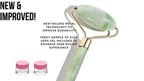 Jade Roller Scraping Massager – Himalayan Jade Stone Anti-Aging Roller – Double Skincare Treatment for Dark Spots, Acne & Wrinkles – Premium Beauty Accessory for Glowing Skin