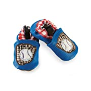 Mud Pie Baby-Boys Newborn Baseball Shoe Socks, Blue, 0-6 Months