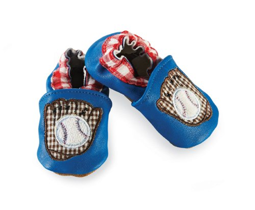 Mud Pie Baby-Boys Newborn Baseball Shoe Socks, Blue, 6-12 Months