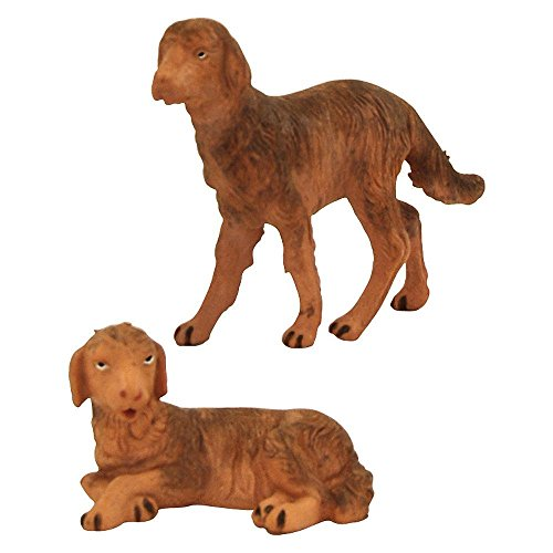Fontanini Standing and Sitting Dogs Italian Nativity Village Figurine Set of 2