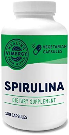 Vimergy USA Grown Spirulina Capsules 180 ct