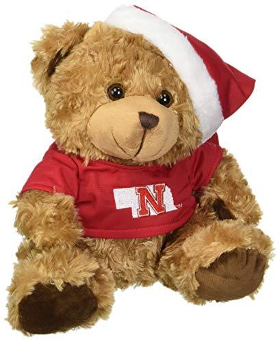 FOCO Nebraska Bear with Santa Hat by FOCO