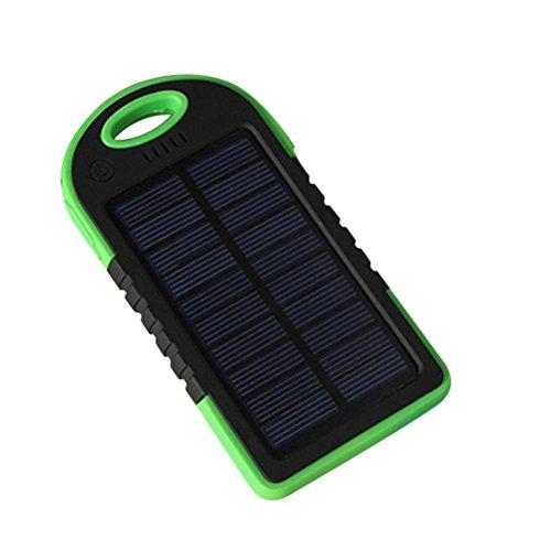 Waterproof 50000mAh USB Solar Charger Power Bank (Blue/Black) - 5