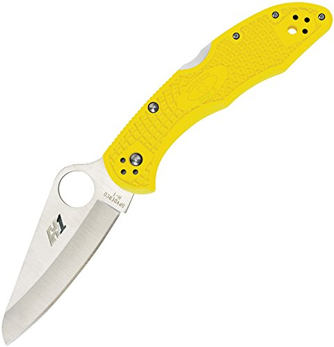 Spyderco Salt 2 Folder Lightweight Yellow Plain Edge Flooding Knife by Spyderco