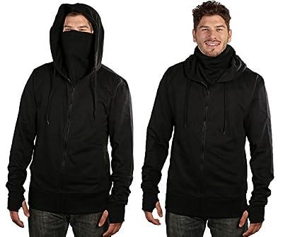 ARSNL Men's Fleece Full Zip Ninja Hoodie