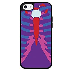 Close up Colorful Purple, Pink, Blue Skeleton Hard Snap on Phone Case (iPhone 5c)