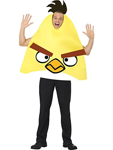Angry Birds Yellow Bird Adult Costumes - Smiffy's Angry Birds Costume - Yellow,