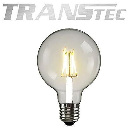 De plástico TRANSTEC® Vintage LED bombilla Globo G80 - 2 W bombilla LED, E27