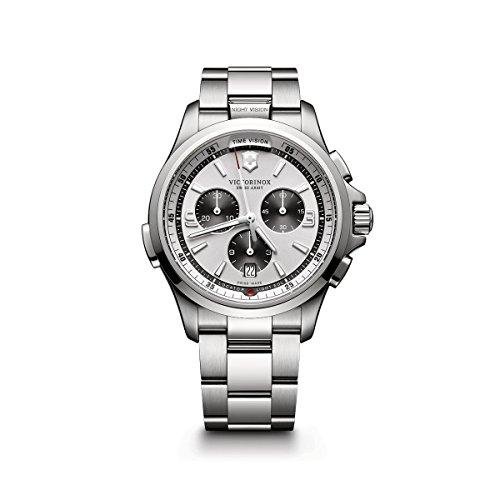 - Victorinox Men's Night Vision Titanium Swiss-Quartz Watch with Stainless-Steel Strap, Silver, 21 (Model: 241728)
