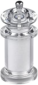 Gessner Products Mr. Dudley  5-1/2-Inch Majesty Saltmill, Clear Acrylic