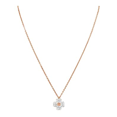 c69b6391a Image Unavailable. Image not available for. Color: Swarovski Latisha  Reversible Rose Gold Plated Flower Pendant