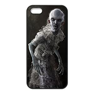 5s Case, iPhone 5 5s Case - Fashion Style New Zombie Painted Pattern TPU Soft Cover Case for iPhone 5/5s(Black/white)