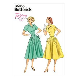 1950s Sewing Patterns | Swing and Wiggle Dresses, Skirts 1950s Misses Dress and Belt Sewing Template Size E5 (14-16-18-20-22) $11.90 AT vintagedancer.com