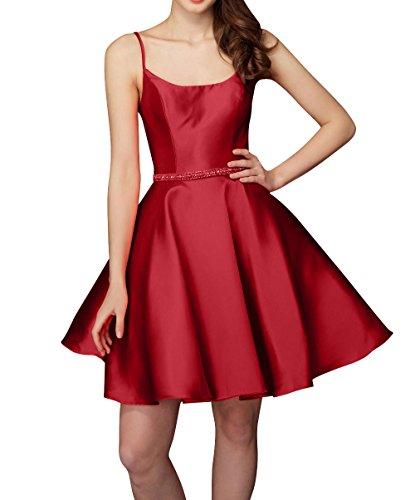 Traeger Brau Partykleider Dunkel Mini Spaghetti Kleider Rot La Tanzenkleider Satin Kurzes Abendkleider Cocktailkleider mia Heimkehr qBfWUt