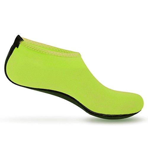 Nlife Barefoot Water Shoes Aqua Socks For Beach Surf Pool Swim Yoga Aerobics (Men & Women, M -XXXL) Green