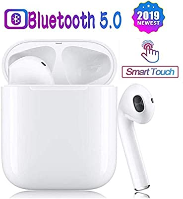 Wireless Bluetooth Earbuds Headsets Bluetooth 5.0 Headphones Intelligent Noise Reduction【24Hrs Charging Case】Pop-ups Auto Pairing iPhone Apple Samsung Airpods pro and Airpod in-Ear Wireless Headphones
