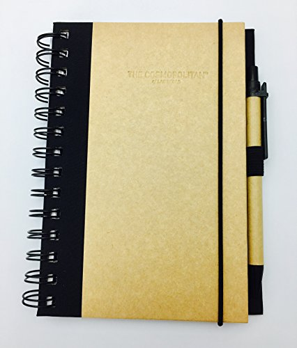Recycled Cardboard Journal (EcoSmart Recycled Paper Notepad Journal with Pen 7