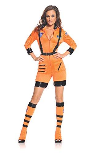 Underwraps Women's Galaxy, Orange/Black, X-Large - Cute Space Girl Costume