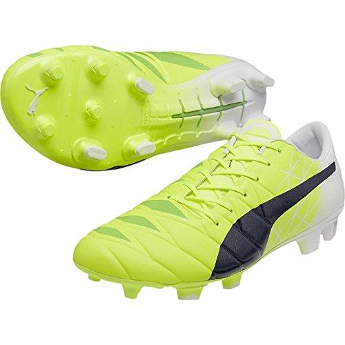 Puma evoACCURACY 1 FG Mario Balotelli, Fluro Yellow/Peacoat/Blanco