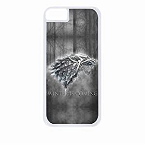 Winter is Coming-Grey-Hard White Plastic Snap - On Case-Apple Iphone 5C Only - Great Quality!