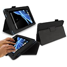 """iTALKonline Acer Iconia B1 7"""" Tablet Black Stand & Type PU Leather Executive Multi-Function Wallet Case Cover Organiser Flip with Built in Typing Stand"""