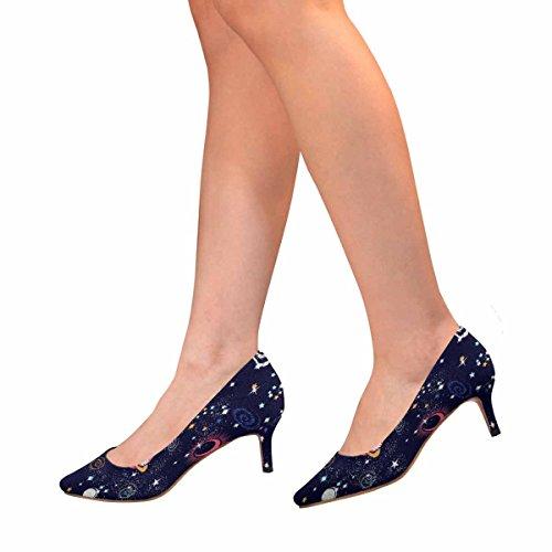 Scarpe Da Donna Low Cost Con Tallone Gattino A Punta Appuntita Scarpe Da Ginnastica Modello Galaxy Multi 1