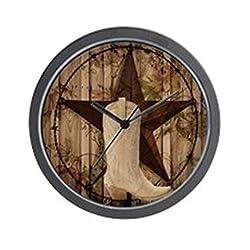 CafePress - Cute Western Cowgirl - Unique Decorative 10 Wall Clock