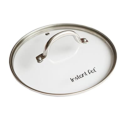 Instant Pot Tempered Glass Lid for Electric Pressure Cookers, 9 , Stainless Steel