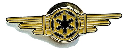 Star Wars Oro Imperiale Crew Tie Fighter Ali Cosplay Metal Pin Badge Patch Nation