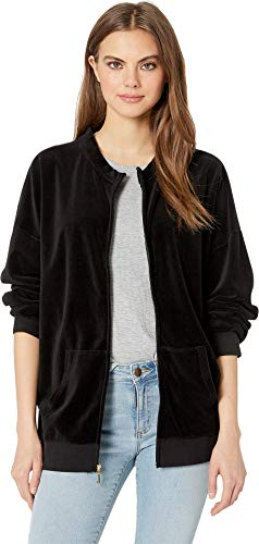 Juicy Couture Women's Velour Beverly Jacket Pitch Black ()
