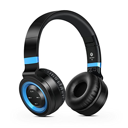 wireless headphones sound intone p6 stereo bluetooth headphones with microphone over ear. Black Bedroom Furniture Sets. Home Design Ideas