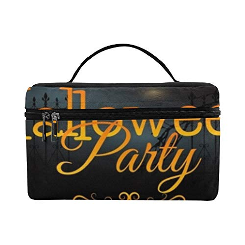Halloween Party Flyer Pumpkins Hat Pot Lunch Box Tote Bag Lunch Holder Insulated Lunch Cooler Bag For Women/men/picnic/boating/beach/fishing/school/work